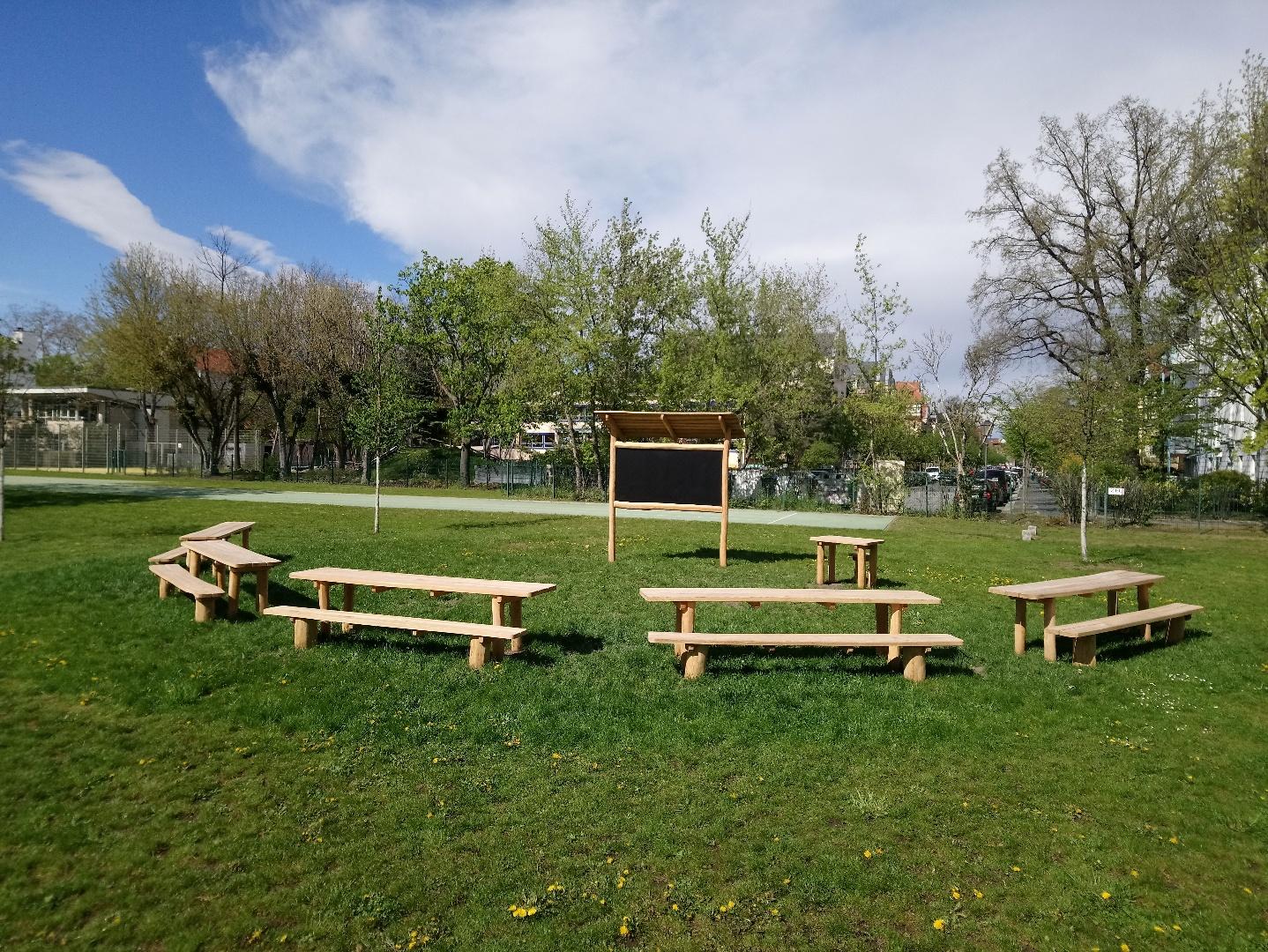 Grünes Klassenzimmer nach Fertigstellung